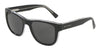 DOLCE & GABBANA DG4284 Square Sunglasses  675/87-TOP BLACK ON CRYSTAL 54-20-145 - Color Map black