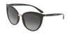 DOLCE & GABBANA DG6113 Cat Eye Sunglasses  501/8G-BLACK 55-18-140 - Color Map black