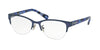 Coach HC5078 Cat Eye Eyeglasses  9255-SATIN NAVY/BLUE BLACK MOSAIC 50-18-135 - Color Map black