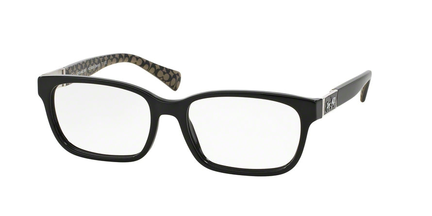 Coach DARCY HC6062 Square Eyeglasses  5261-BLACK/BLACK MILITARY SIG C 53-16-135 - Color Map black