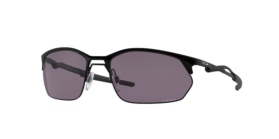 Oakley WIRE TAP 2.0 OO4145 Rectangle Sunglasses  414501-SATIN BLACK 60-19-136 - Color Map black