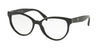 Prada HERITAGE PR01UVF Pillow Eyeglasses  1AB1O1-BLACK 54-17-140 - Color Map black