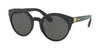 Prada CATWALK PR03US Irregular Sunglasses  07E5S0-BLACK/GREY/YELLOW 53-22-140 - Color Map green
