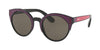 Prada CATWALK PR03US Irregular Sunglasses  SSA5S2-BLACK/BORDEAUX/FUXIA 53-22-140 - Color Map violet