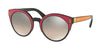 Prada CATWALK PR03US Irregular Sunglasses  SVS4P0-BLACK/FUXIA/YELLOW 53-22-140 - Color Map orange