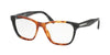 Prada PR04TV Square Eyeglasses  U6L1O1-LIGHT HAVANA/SPOTTED GREY 52-16-140 - Color Map havana