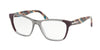 Prada PR04TV Square Eyeglasses  VYN1O1-PLUM/GREY/PLUM 52-16-140 - Color Map grey