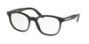 Prada PR04UV Pillow Eyeglasses  1AB1O1-BLACK 52-19-145 - Color Map black