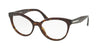 Prada CONCEPTUAL PR05UV Oval Eyeglasses  2AU1O1-HAVANA 54-17-140 - Color Map havana