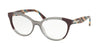 Prada CONCEPTUAL PR05UV Oval Eyeglasses  VYN1O1-PLUM/GREY/PLUM 54-17-140 - Color Map grey