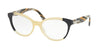 Prada CONCEPTUAL PR05UV Oval Eyeglasses  VYP1O1-BLUE/YELLOW/BLUE 54-17-140 - Color Map yellow