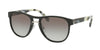 Prada CONCEPTUAL PR09US Pilot Sunglasses  1AB0A7-BLACK 55-20-145 - Color Map black