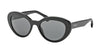 Prada PORTRAIT PR15QS Oval Sunglasses  1AB1A1-BLACK 53-19-140 - Color Map black