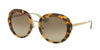 Prada CINEMA' PR16QS Round Sunglasses  7S04M1-MEDIUM HAVANA 55-21-135 - Color Map havana