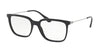 Prada CATWALK PR17TVF Rectangle Eyeglasses  1AB1O1-BLACK 55-18-140 - Color Map black