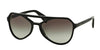 Prada TYPE PR22RS Pilot Sunglasses  1AB0A7-BLACK 58-18-140 - Color Map black