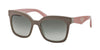 Prada TRIANGLE PR24QS Square Sunglasses  TFT4M1-BEIGE/OPAL BEIGE 53-19-140 - Color Map light brown