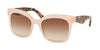 Prada TRIANGLE PR24QS Square Sunglasses  UEW0A6-OPAL PINK 53-19-140 - Color Map pink