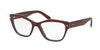Prada PR27SV Cat Eye Eyeglasses  UF91O1-AMARANTH/AZURE/AMARANTH 51-17-140 - Color Map bordeaux