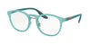 Prada Linea Rossa PS05HV Phantos Eyeglasses  VHF1O1-OPAL GREEN RUBBER 51-20-145 - Color Map green