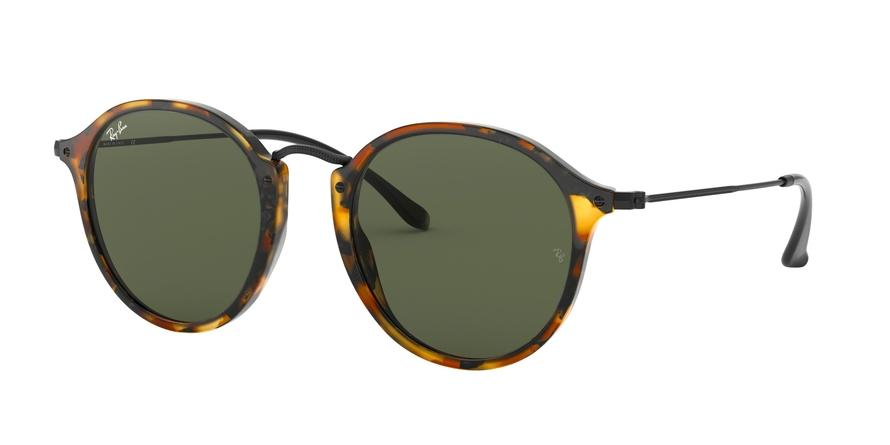 Ray-Ban ROUND RB2447 Round Sunglasses  1157-SPOTTED BLACK HAVANA 49-21-145 - Color Map havana