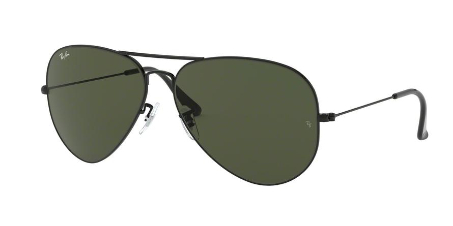 Ray-Ban AVIATOR LARGE METAL II RB3026 Pilot Sunglasses  L2821-BLACK 62-14-140 - Color Map black