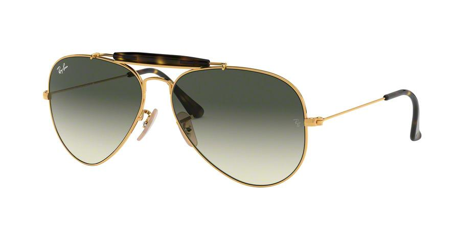 Ray-Ban OUTDOORSMAN II RB3029 Pilot Sunglasses  181/71-GOLD 62-14-140 - Color Map gold