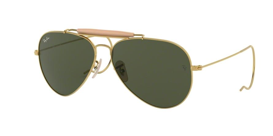 Ray-Ban OUTDOORSMAN I RB3030 Pilot Sunglasses  L0216-ARISTA 58-14-160 - Color Map gold