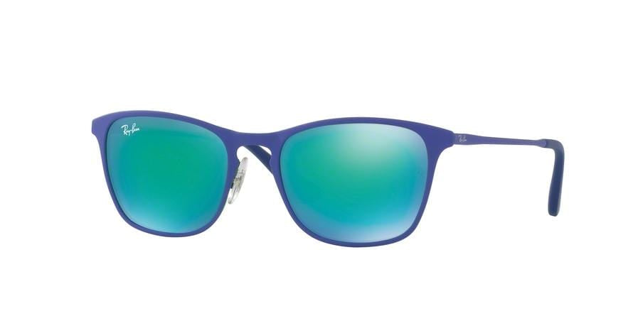 Ray-Ban Junior RJ9539S Square Sunglasses  255/3R-RUBBER GREEN/BLUE 48-17-130 - Color Map blue