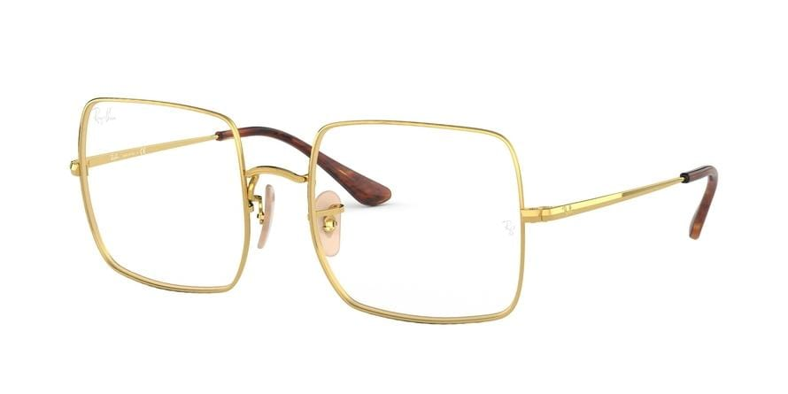Ray-Ban Optical SQUARE RX1971V Square Eyeglasses  2500-GOLD 54-19-145 - Color Map gold