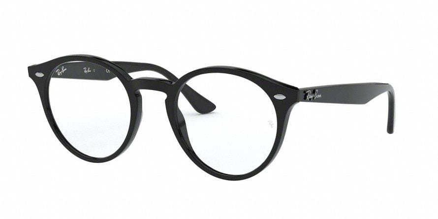 Ray-Ban Optical RX2180V Phantos Eyeglasses  2000-SHINY BLACK 49-21-145 - Color Map black