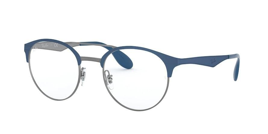 Ray-Ban Optical RX3545V Phantos Eyeglasses  3006-GUNMETAL ON TOP MATTE BLUE 49-20-140 - Color Map blue