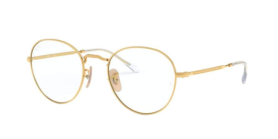 Ray-Ban Optical ROUND METAL II RX3582V Round Eyeglasses  2500-GOLD 51-20-140 - Color Map gold