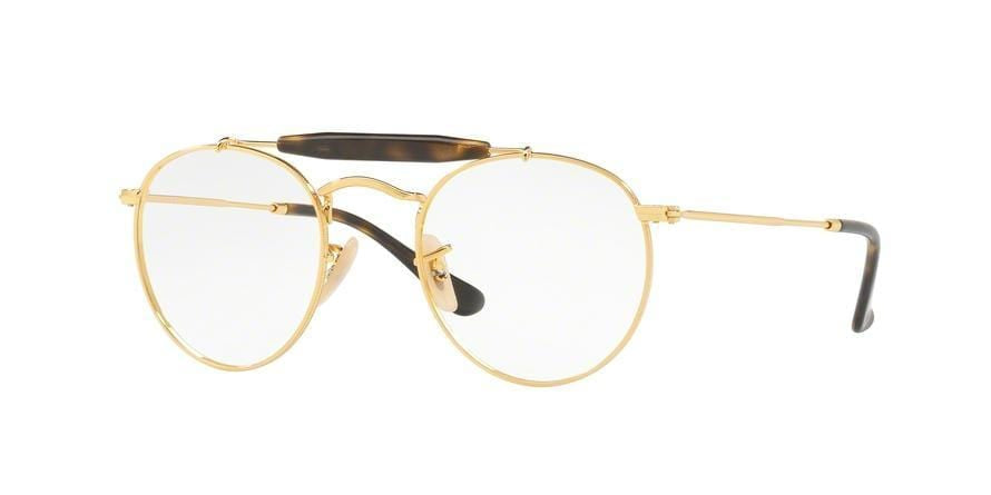 Ray-Ban Optical RX3747V Phantos Eyeglasses  2500-GOLD 47-21-140 - Color Map gold