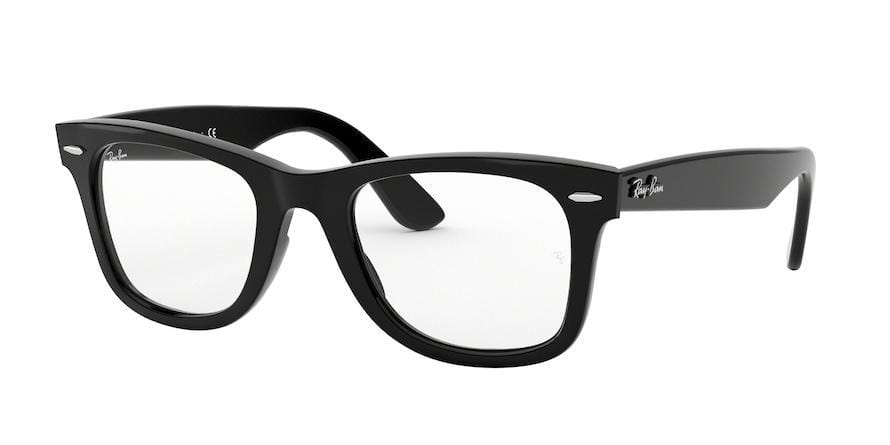 Ray-Ban Optical WAYFARER EASE RX4340V Square Eyeglasses  2000-BLACK 50-22-150 - Color Map black