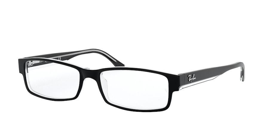 Ray-Ban Optical RX5114 Rectangle Eyeglasses  2034-BLACK ON TRANSPARENT 54-16-140 - Color Map black