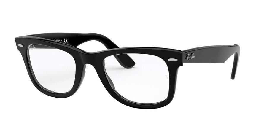 Ray-Ban Optical WAYFARER RX5121F Square Eyeglasses  2000-SHINY BLACK 50-22-150 - Color Map black