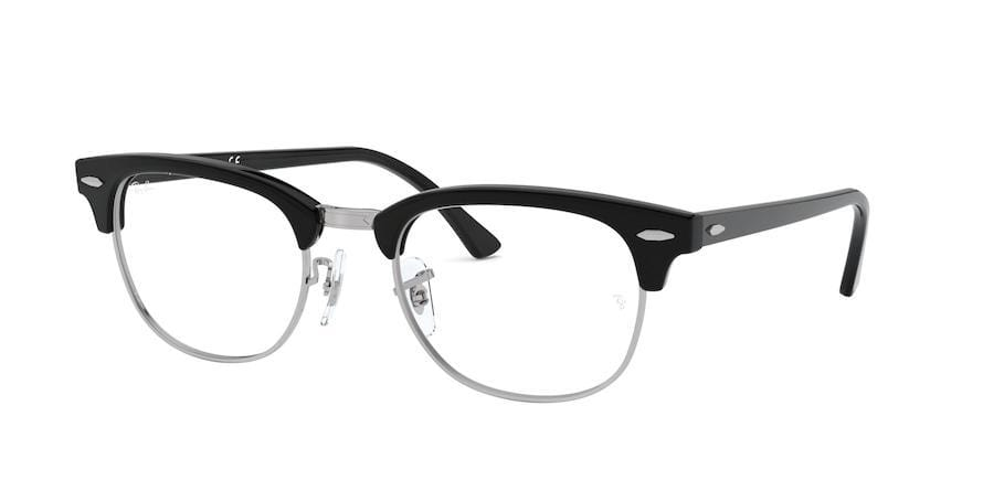 Ray-Ban Optical CLUBMASTER RX5154 Square Eyeglasses  2000-BLACK 51-21-145 - Color Map black