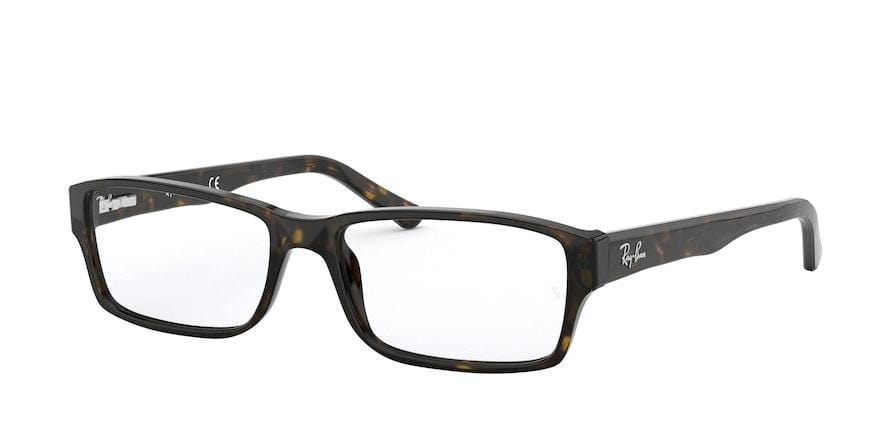 Ray-Ban Optical RX5169 Rectangle Eyeglasses  2012-DARK HAVANA 54-16-140 - Color Map havana