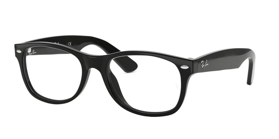 Ray-Ban Optical NEW WAYFARER RX5184F Square Eyeglasses  2000-SHINY BLACK 52-18-145 - Color Map black