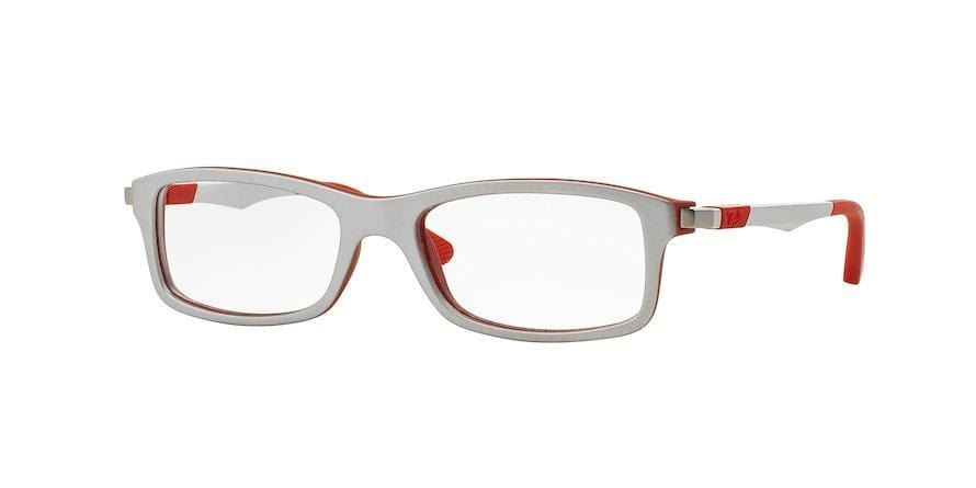 Ray-Ban Junior Vista RY1546 Rectangle Eyeglasses  3632-TOP METALLIC SILVER ON RED 48-16-125 - Color Map silver