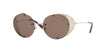 Valentino VA2003 Round Sunglasses  300373-LIGHT GOLD 52-18-125 - Color Map gold