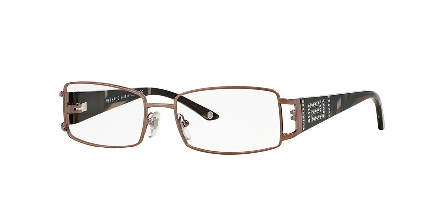 Versace VE1163B Rectangle Eyeglasses  1013-BROWN 52-16-130 - Color Map brown