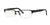 Versace VE1184 Rectangle Eyeglasses  1261-MATTE BLACK 53-18-140 - Color Map black