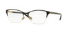 Versace VE1218 Irregular Eyeglasses  1342-BLACK/GOLD 53-17-140 - Color Map black