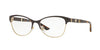 Versace VE1233Q Irregular Eyeglasses  1344-BROWN/PALE GOLD 53-17-140 - Color Map brown