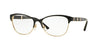 Versace VE1233Q Irregular Eyeglasses  1366-BLACK/PALE GOLD 53-17-140 - Color Map black