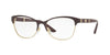 Versace VE1233Q Irregular Eyeglasses  1418-EGGPLANT/PALE GOLD 53-17-140 - Color Map gold