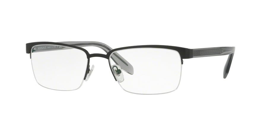 Versace VE1241 Rectangle Eyeglasses  1261-MATTE BLACK 54-18-145 - Color Map black