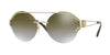 Versace VE2184 Round Sunglasses  12526U-PALE GOLD 61-17-140 - Color Map gold
